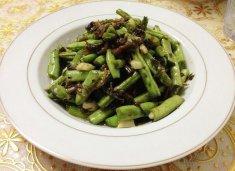 雪菜四季豆的做法视频