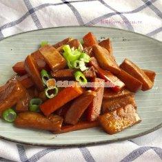 杏鲍菇胡萝卜烧的做法