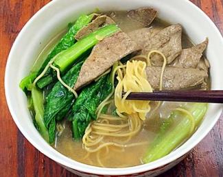 猪肝汤面的家常做法
