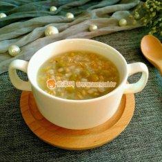 麦仁糯米豌豆盅的做法