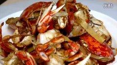葱姜焗海蟹的做法视频