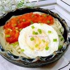 西红柿煎蛋面的做法