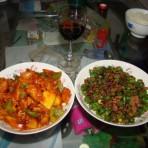 菠萝古老肉PK肉末杭椒的做法