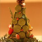抹茶马卡龙圣诞树的做法