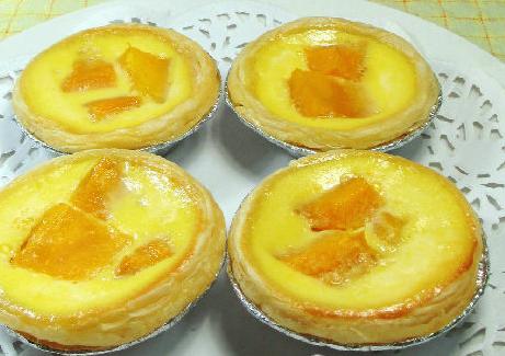 芒果全蛋蛋挞的家常做法
