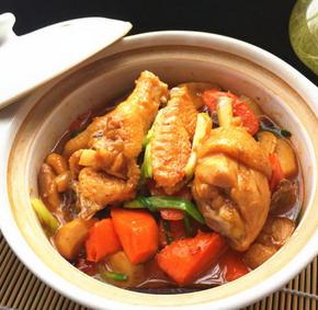 胡萝卜杏鲍菇烧土鸡的家常做法