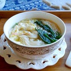 菠菜汤面条的做法