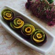 彩色玫瑰花卷的做法