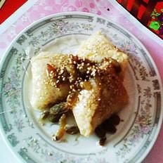 果脯芝麻粽的做法