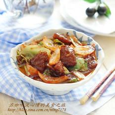 甜辣炒粽子的做法