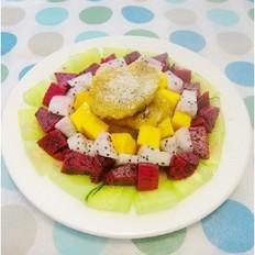 蔬果拌煎粽的做法