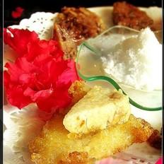 油煎糯米小粽子的做法