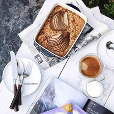 烤燕麦布丁(低脂低热量)的做法