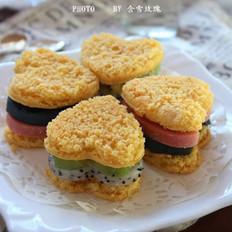 彩虹三明治的做法