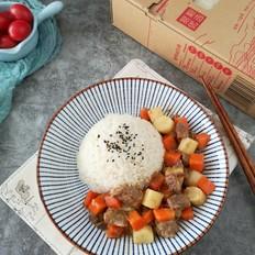 【三阳开泰】胡萝卜羊肉盖浇饭的做法