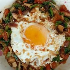 香菇鸡蛋盖浇饭的做法