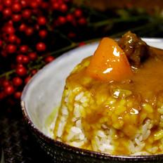 可做成盖浇饭的咖喱牛肉的做法