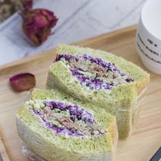 金枪鱼蔬菜三明治的做法