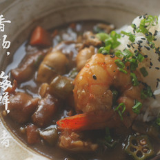 香肠,海鲜,猪五花盖浇饭的做法