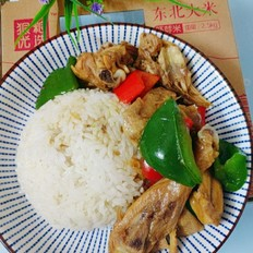 胚芽米盖浇鸡肉饭的做法