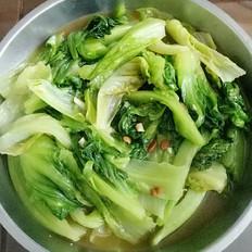黄豆酱炒生菜的做法