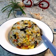 海苔蛋炒饭的做法