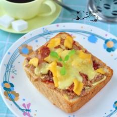 芝士香肠三明治的做法