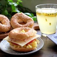 燕麦贝果及贝果三明治的做法