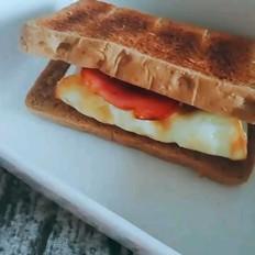 月瘦10斤系列之早餐黑麦三明治的做法