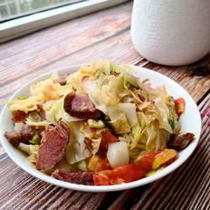 牛肉炒圆白菜的做法