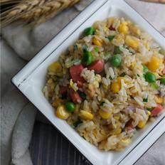 青豆玉米蛋炒饭的做法