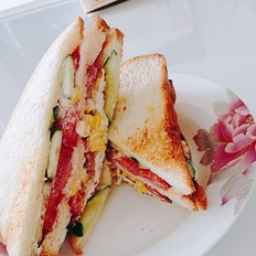 香脆玉米三明治的做法