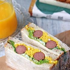 牛肉肠鸡蛋三明治的做法