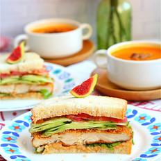 柏翠烤鸡排三明治VS鲜奶燕麦吐司的做法