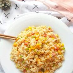 玉米炒饭的做法