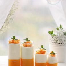 芒果椰子奶冻的做法