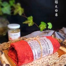 草莓毛巾卷丘比果酱的做法
