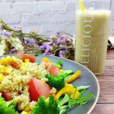 低脂减肥轻食藜麦蔬菜沙拉的做法