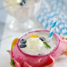火龙果冰淇淋奶昔的做法