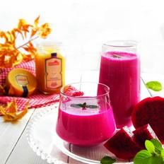火龙果蜂蜜奶昔的做法