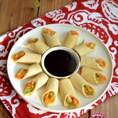 豆腐皮素菜卷的做法