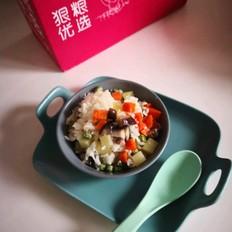 素菜米饭的做法