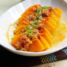 酥蒜蒸南瓜的做法