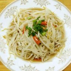 快手素菜酸辣炒绿豆芽的做法