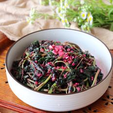 素炒红苋菜的做法