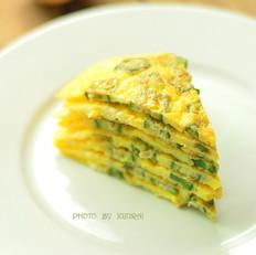 秋葵鸡蛋饼的做法