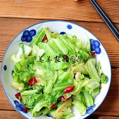 清炒牛心菜的做法