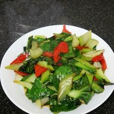 素炒油菜的做法