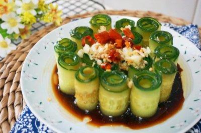 响油黄瓜卷怎么做好吃?响油黄瓜卷的家常做法