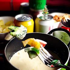 香桃奶酪火锅的做法